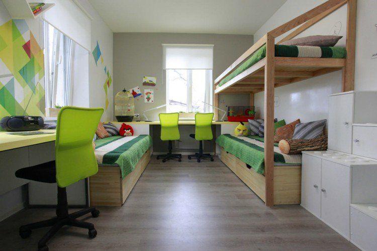 Lit superposé moderne - idées design à placer dans la chambre d\u0027enfant!