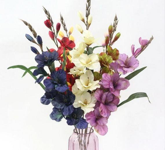 5 Psc 29 52 7 Colors Gladiolus Flower Bouquet Artificial Gladiolus Gladiolus Bou In 2020 Artificial Flowers Artificial Flower Bouquet Artificial Flower Arrangements