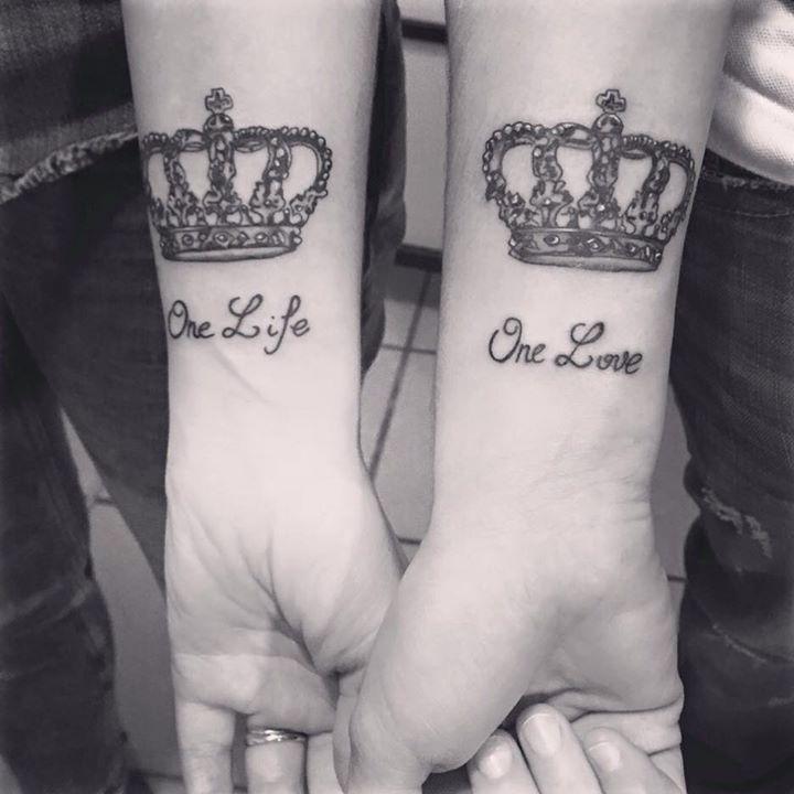 tatouage couronne one life - tatouage