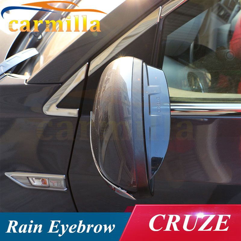 Rearview Mirror Cover Rear View Mirror Cover Rain Visor Sticker For Chevrolet Chevy Cruze Sedan Hatchback 2011 2012 2013 Chevy Cruze Cruze Exterior Accessories