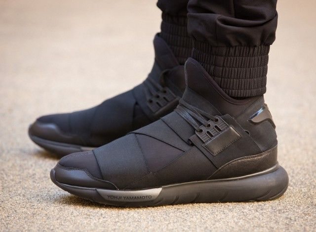 adidas y3 qasa hi all black / triple