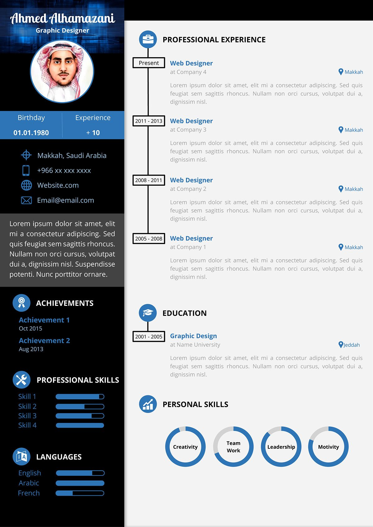 Download The Unlimited Word Resume Template On Behance Resume Template Free Resume Template Resume