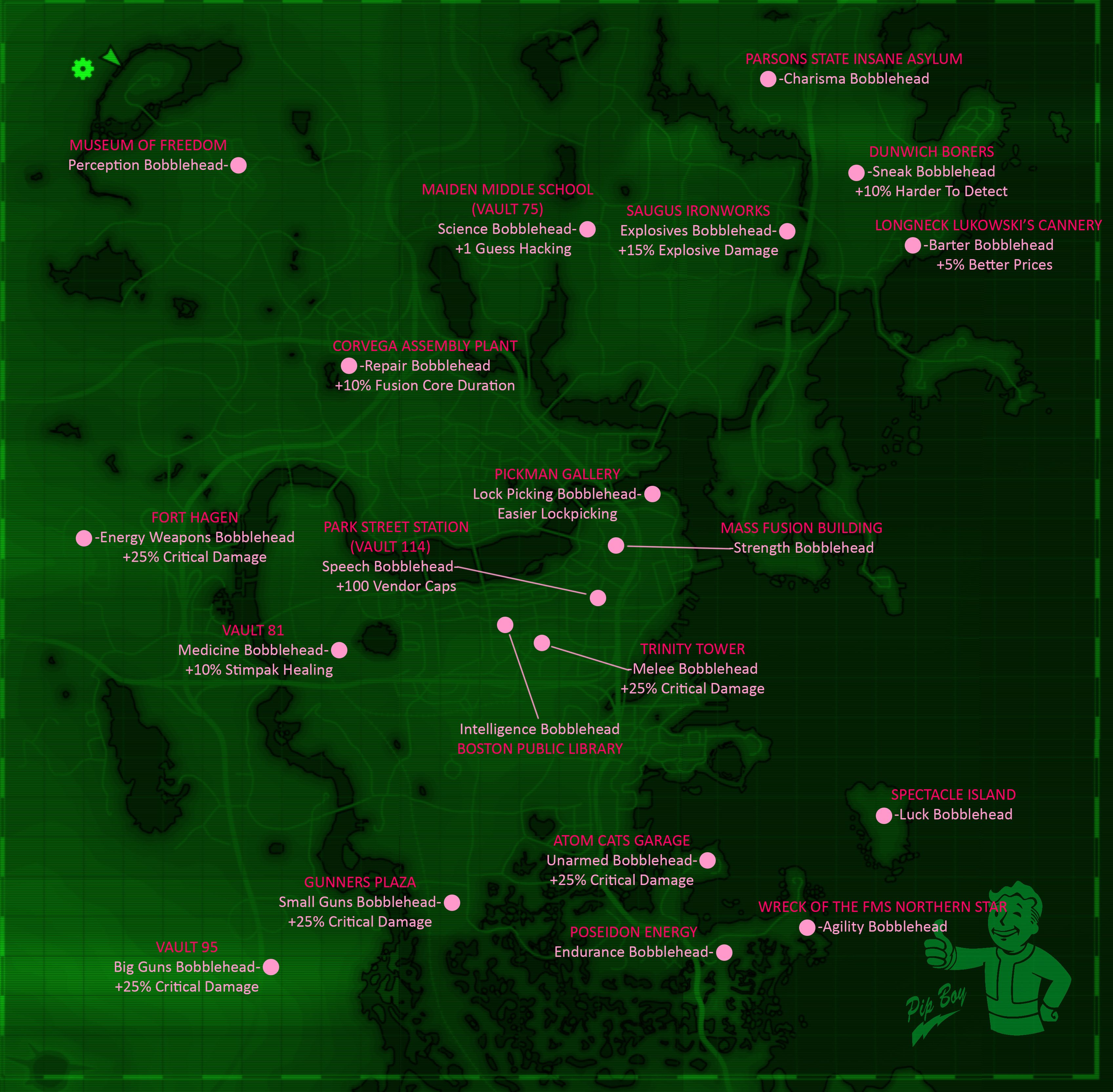 fallout 4 map bobblehead locations simple reference fan stuff