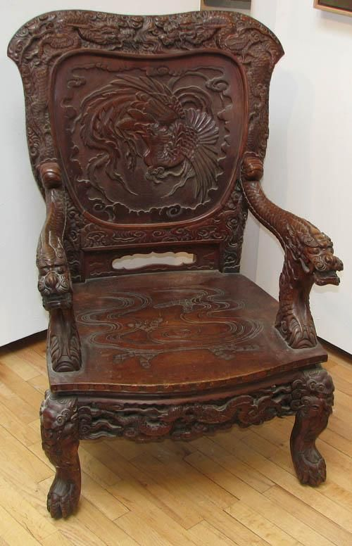 967 antique chinese japanese carved chair 19th or on rh pinterest com