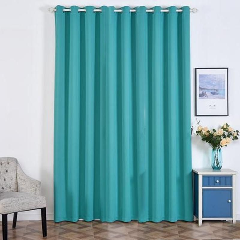 Turquoise Blackout Curtains 2 Packs 52 X 108 Inch Blackout