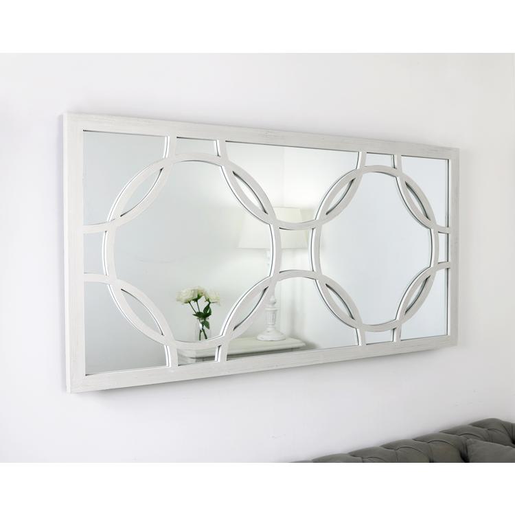 White Window Mirror 55 X 28 Pre Order Circles William Wood Mirrors Window Mirror White Shabby Chic Mirror