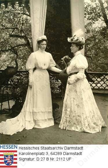 Victoria, Marchioness of Milford-Haven and her sister Princess Elisabeth of Russia