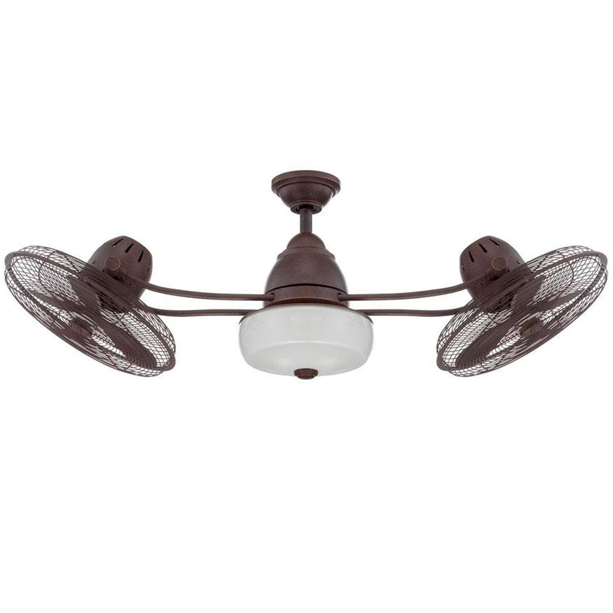 48 Quot Retro Industrial Dual Head Ceiling Fan Dual Ceiling