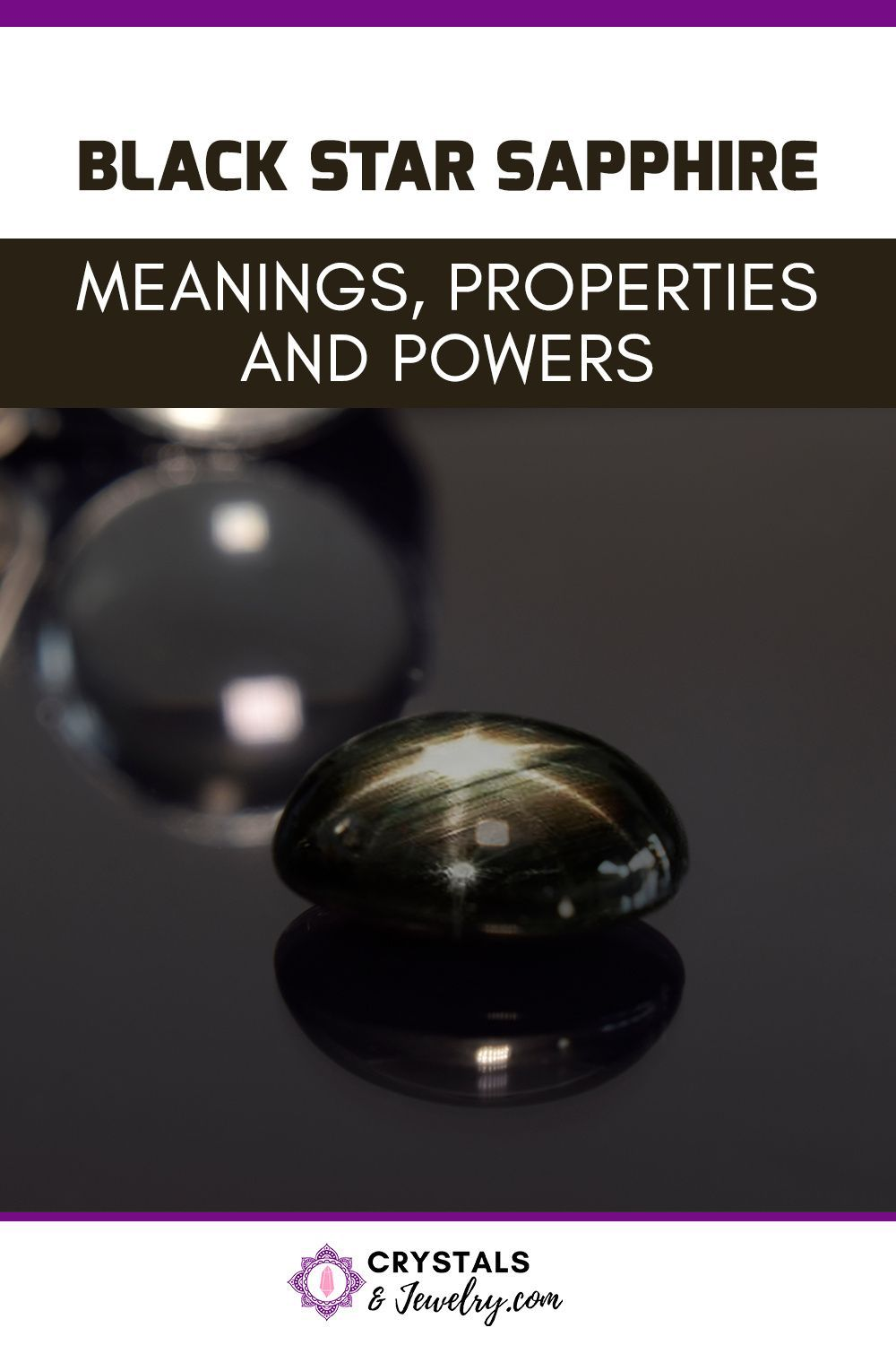 Black Star Sapphire Meanings Properties And Powers In 2020 Star Sapphire Black Star Power Crystals