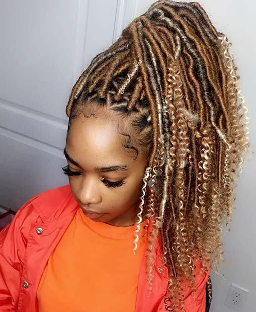 23 Ways To Pull Off Goddess Faux Locs 7 Blonde Faux