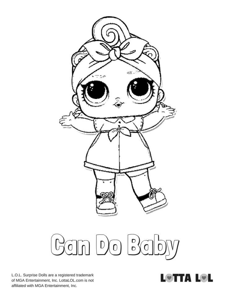 Can Do Baby Coloring Page Lotta Lol Baby Coloring Pages Lol Dolls Coloring Pages
