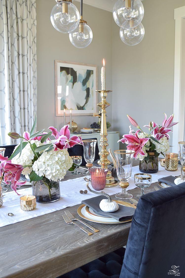 A Rustic Elegant Thanksgiving Christmas Dining Table Elegant Thanksgiving Table Grey Dinning Table