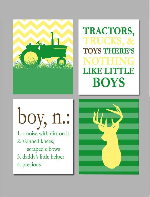 Boy Room Decor John Deere Nursery Art John Deere by karimachal - John Deere Nursery Set By TurtlesCraftsdesigns On Etsy Bedroom