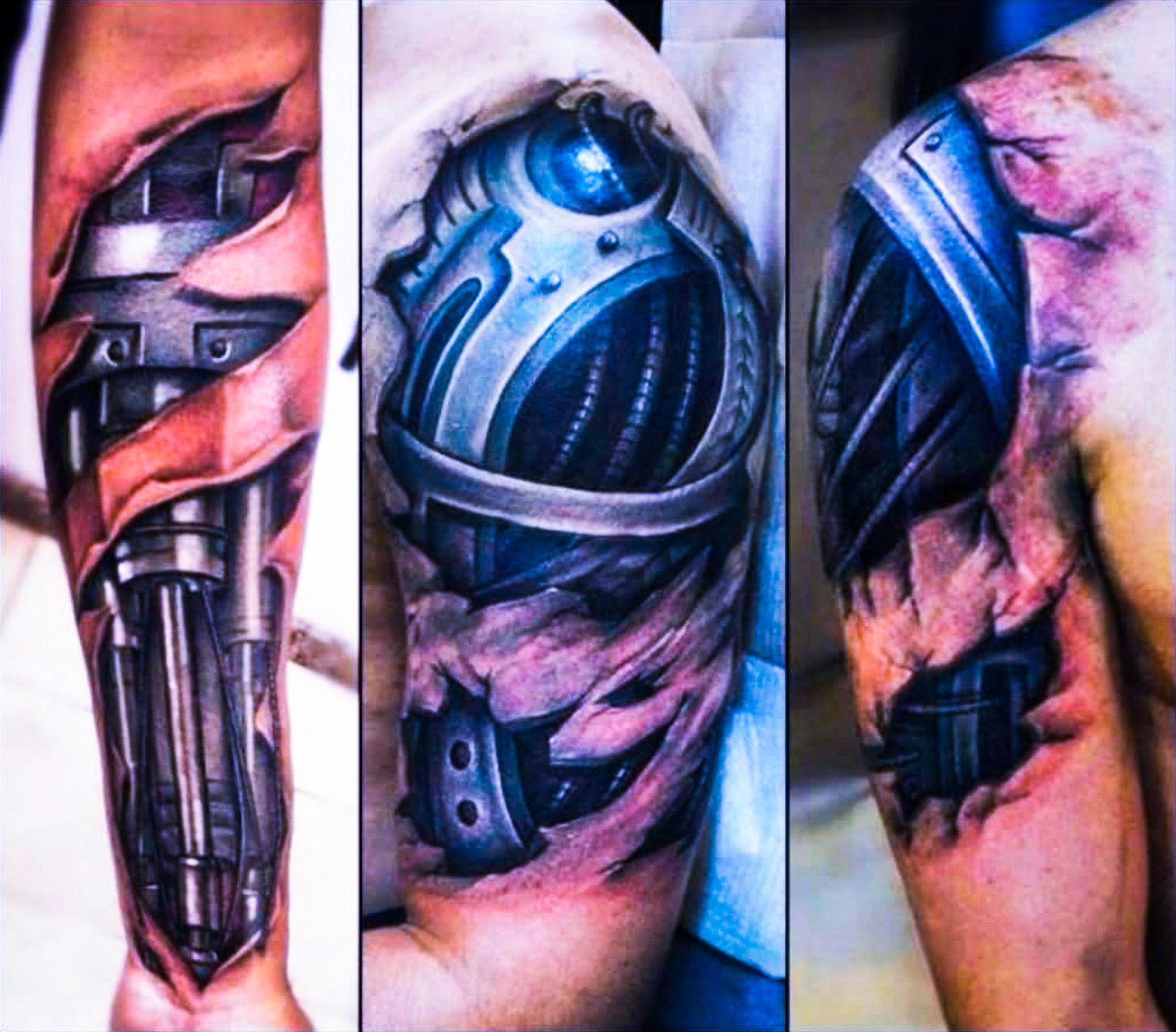 Tattoo gear tattoo sleeve mechanic tattoo mechanical tattoo gears - Bio Mechanical Tattoo