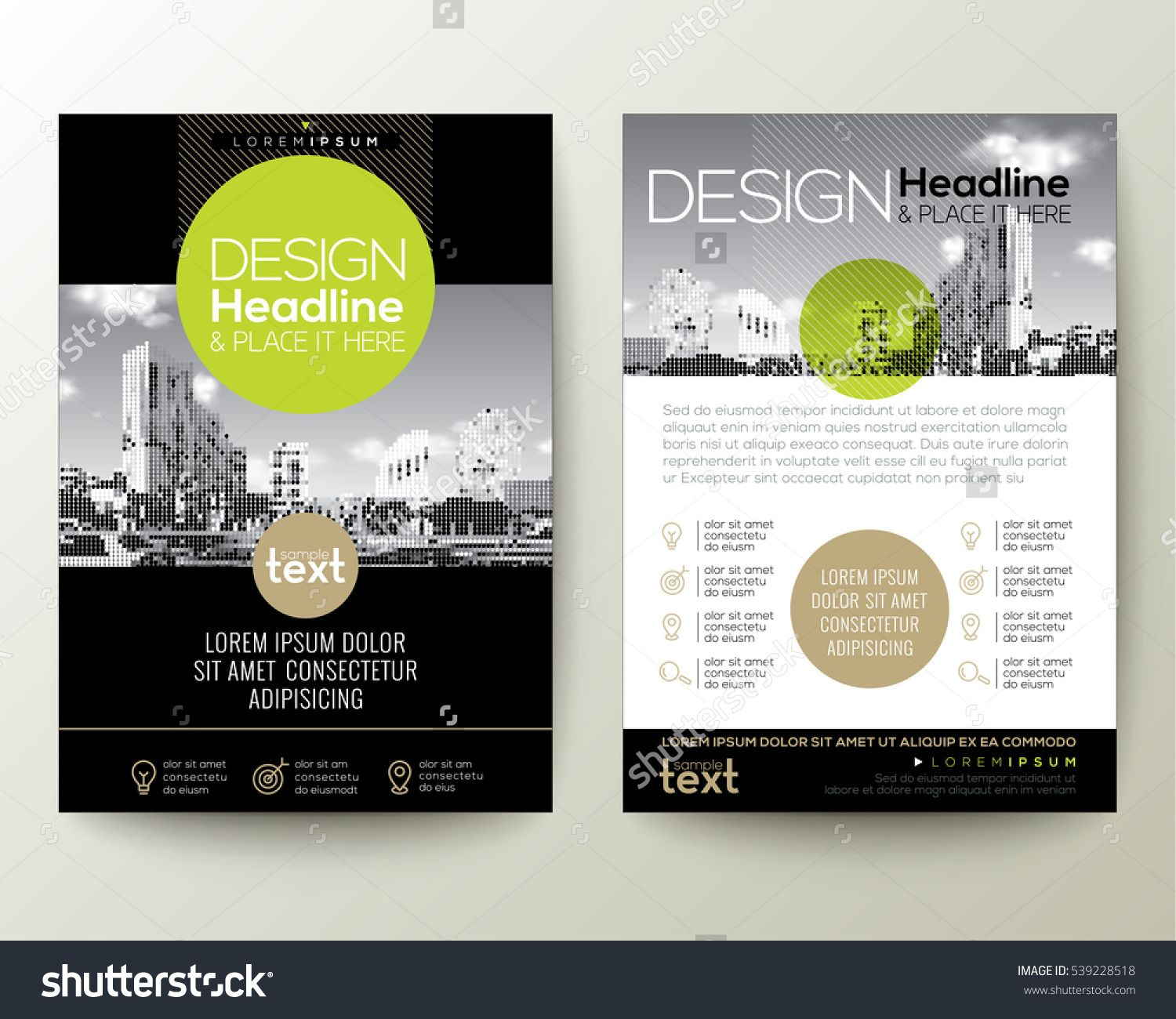 Poster design layout ideas - Poster Flyer Pamphlet Brochure Cover Design Layout With Circle Shape Graphic Elements And Space For Photo