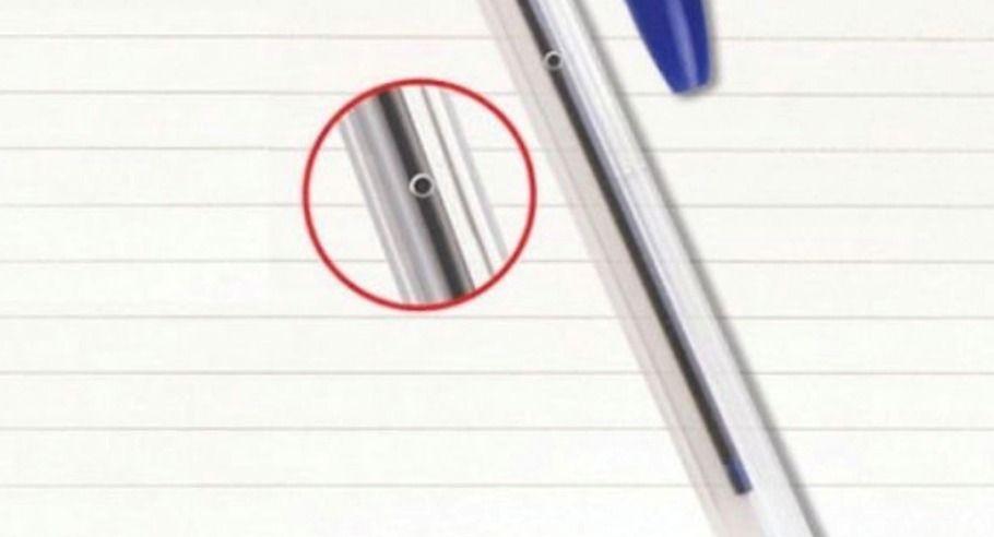 Sabe para que serve este furinho das canetas BIC!