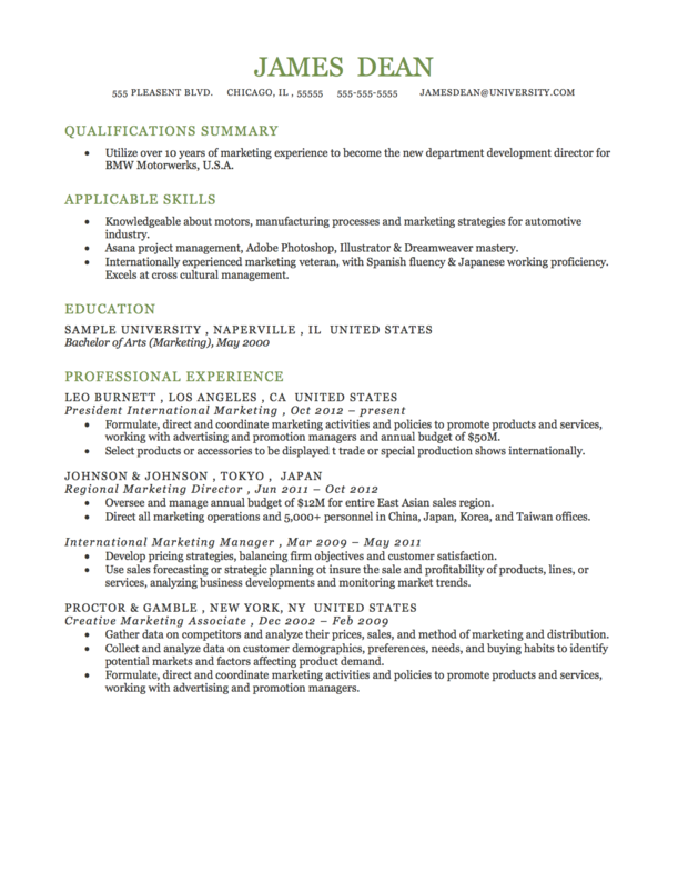 Functional Resume Format | Resume Stuff | Pinterest | Resume ...