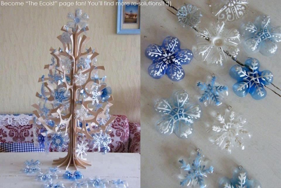 Palline per l'albero di natale con plastica riciclata | un. Pin By Fantasiainarte On Christmas Christmas Decorations Easy Christmas Decorations Christmas Crafts