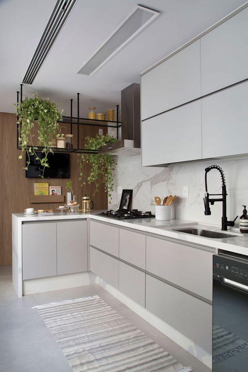 Cozinha Branca | Decoração cozinha planejada, Cozinhas modernas, Decoração  cozinha
