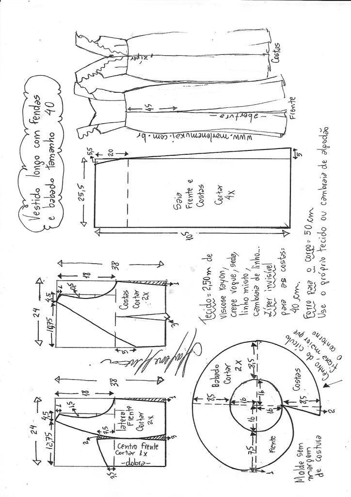 Como cortar um vestido longo com fenda