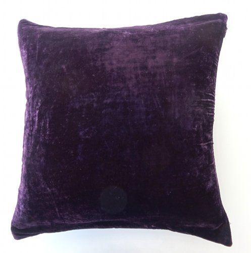"""DreamHome- Solid Velvet Decorative Pillow Cover 16""""x 16""""- Purple/Eggplant DreamHome http://www.amazon.com/dp/B00FTE0S5E/ref=cm_sw_r_pi_dp_Mlqcub02S74VM"""