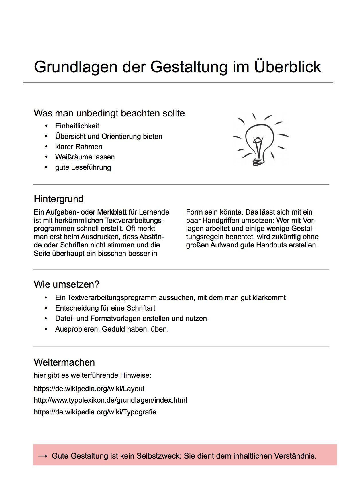 Handout Tipps Zum Aufbau Beispiele Und Muster 9