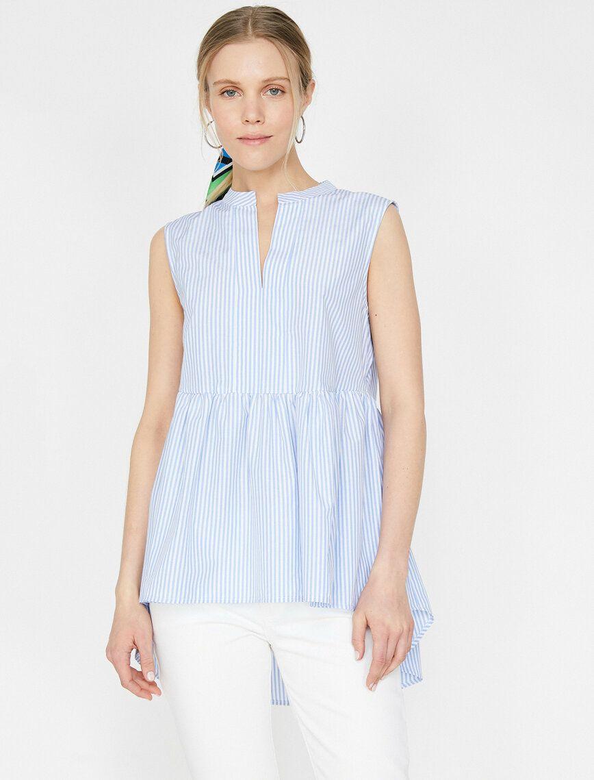 Cizgili Bluz Ust Giyim Kadin Kiyafetleri Kadin Giyim