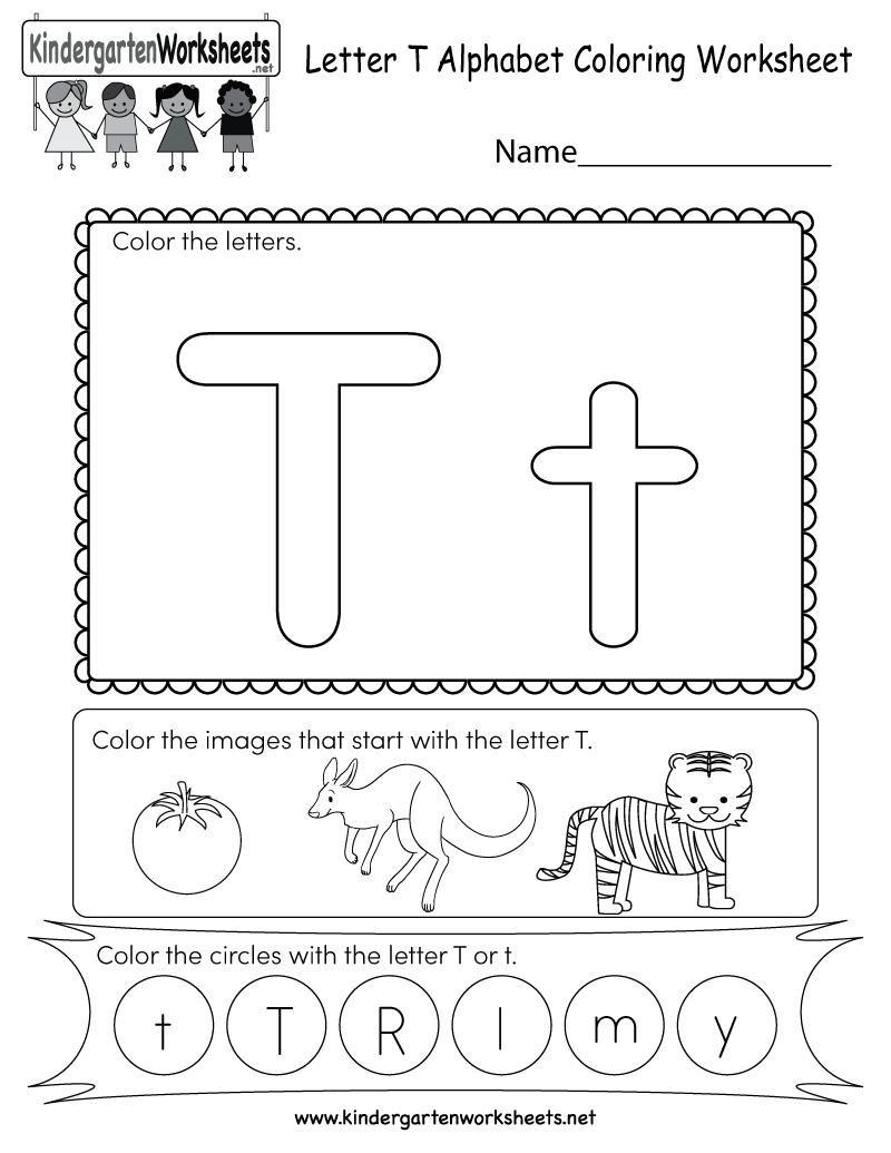 42 Letter T Printable Worksheets In 2020 Letter T Worksheets Color Worksheets Alphabet Worksheets