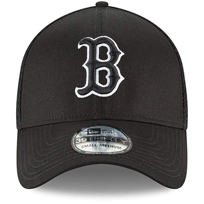 6d349ac2e4e New Era Authentic Boston Red Sox Black Neo 39THIRTY Flex Hat  Sports    Outdoors