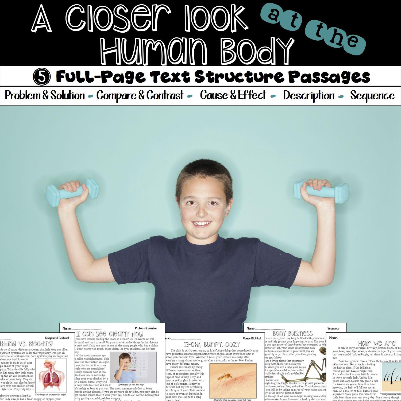 Human Body Nonfiction Text Structure Passages