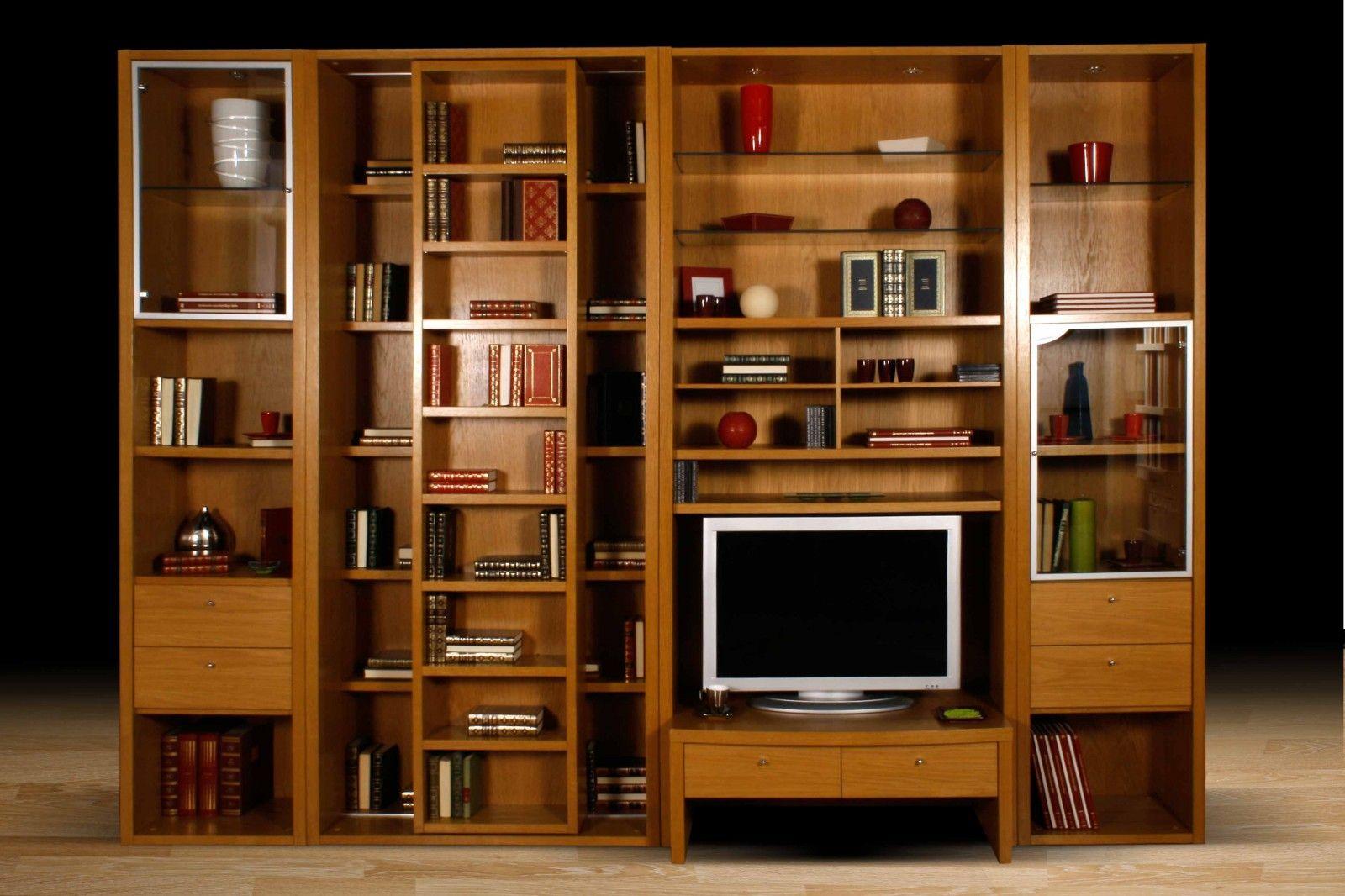 La Maison Du Dressing bibliothèque classique balzac en medium et bois massif