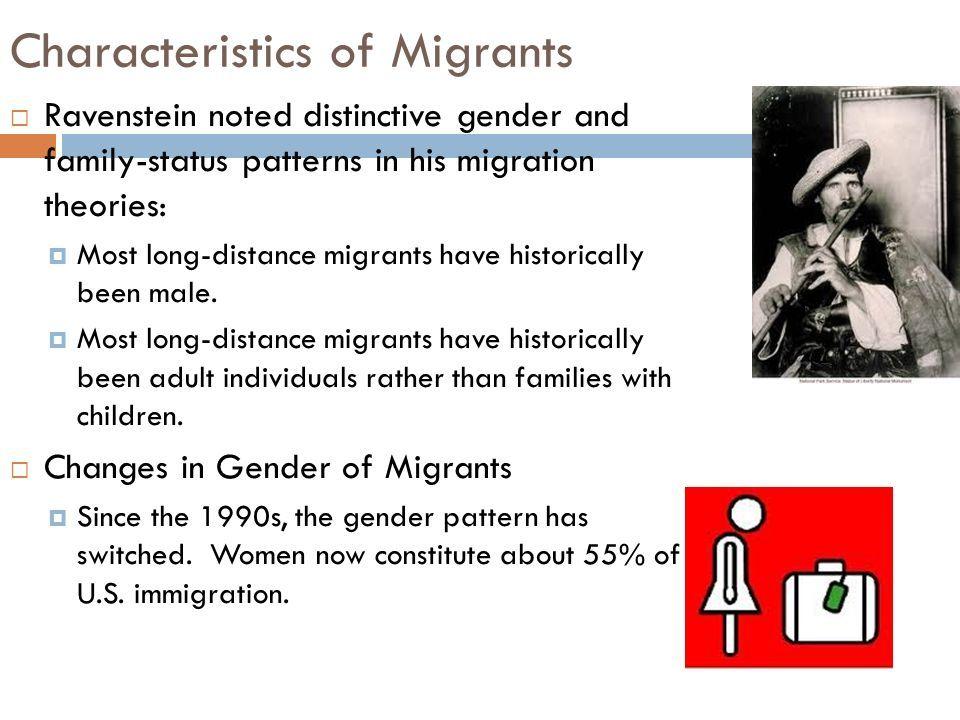 Characteristics Of Migrants Ap Human Geography Human Migration