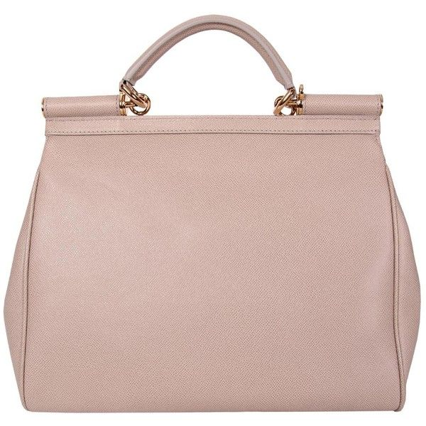 ec1750c3c Dolce & Gabbana Light Brown Textured Leather Bag - in neutral pale pink.  Classic shape, design, and color