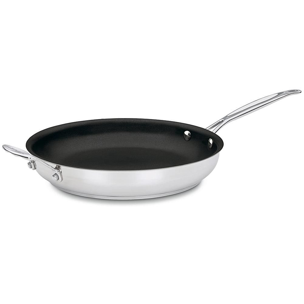 Cuisinart Chef S Classic Open Stainless 12 Inch Skillet With Helper Handle Stainless Steel Skillet Skillet Butter Oil