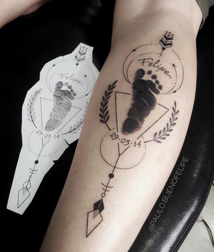 Tatuaje de la huella del pie de un bebé - #bebé #de #del #huella #la #pie #tatuaje