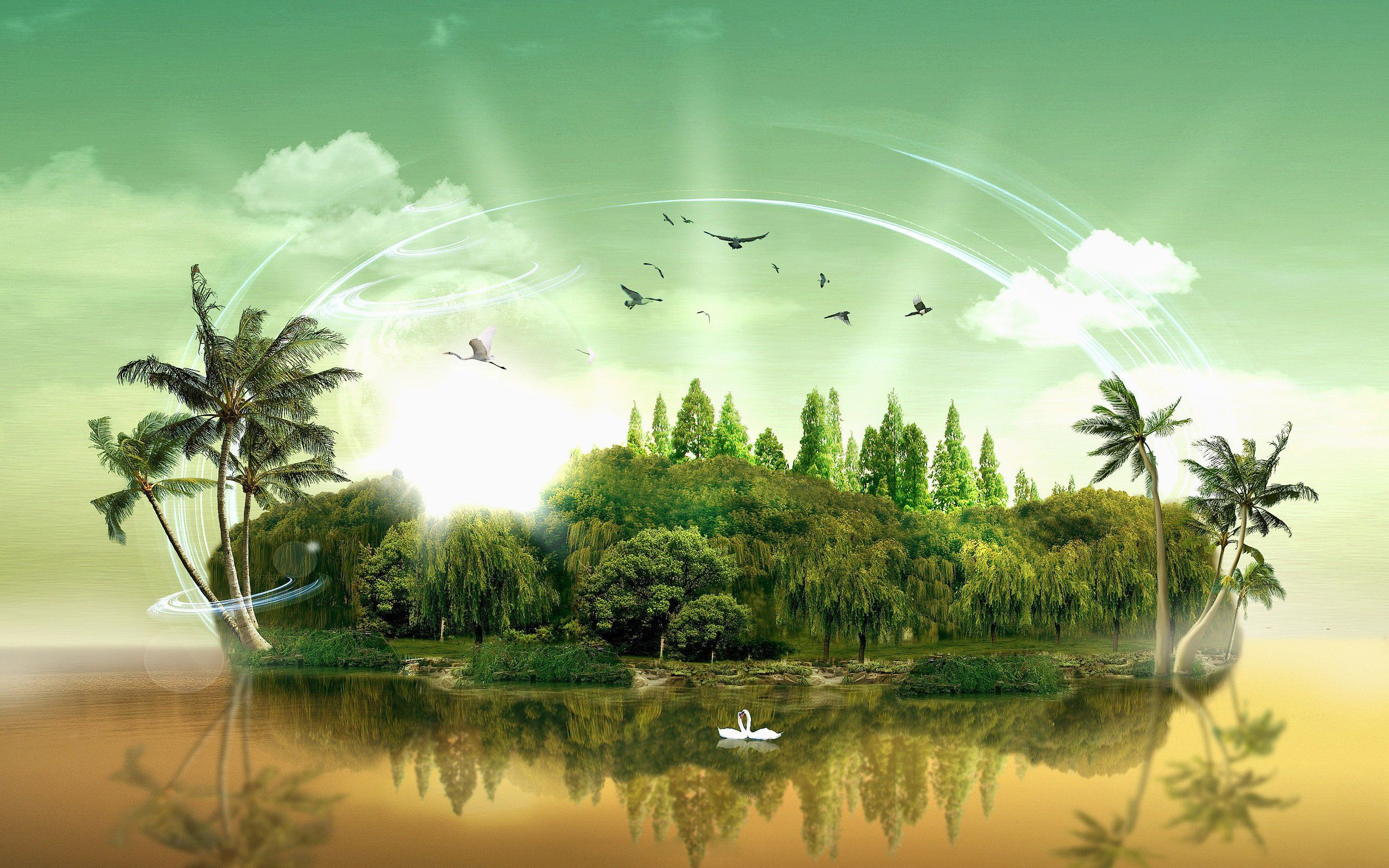 Green Abstract Nature Backgrounds Google Search Nature Images Beautiful Nature Island Wallpaper