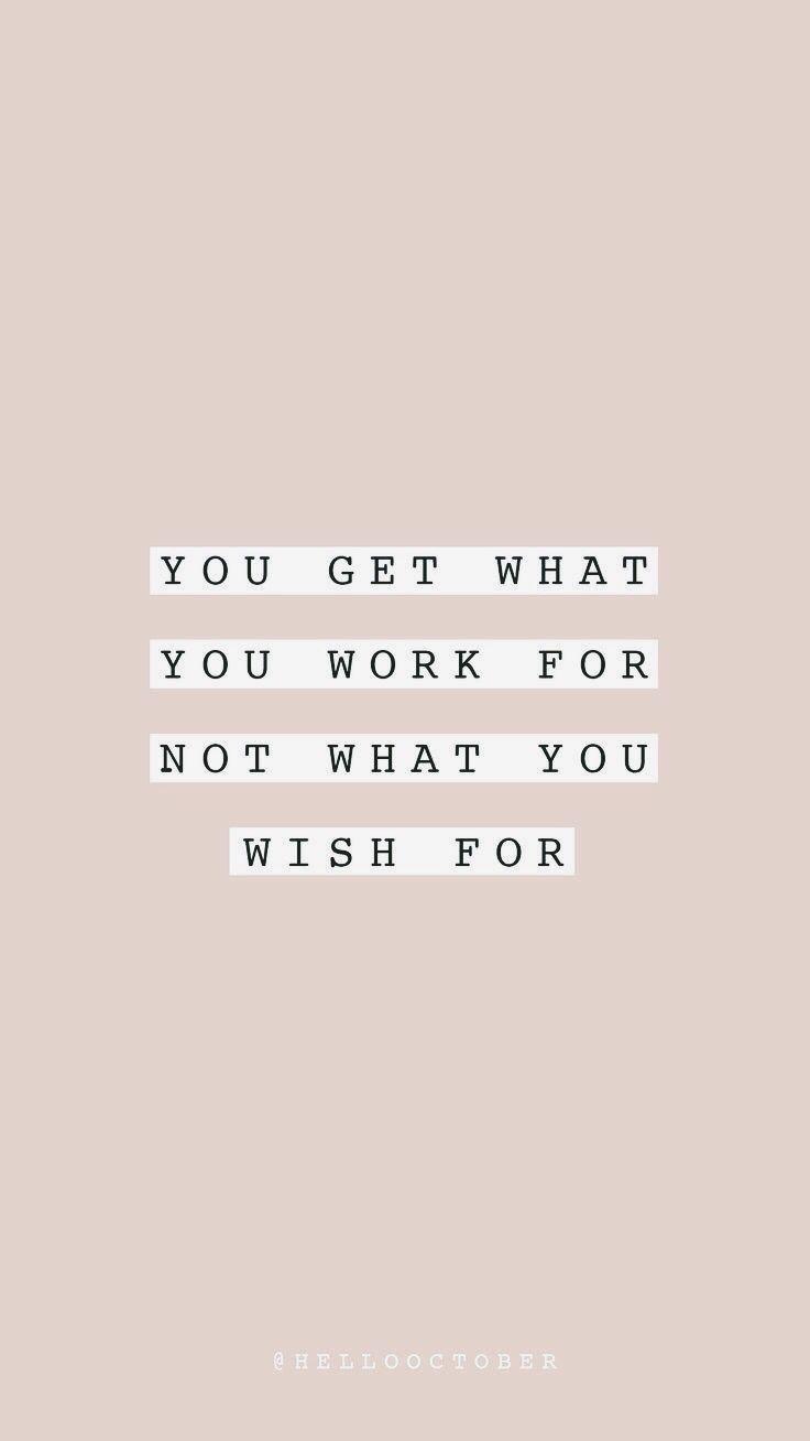 Sie bekommen, wofür Sie arbeiten - New Ideas #work