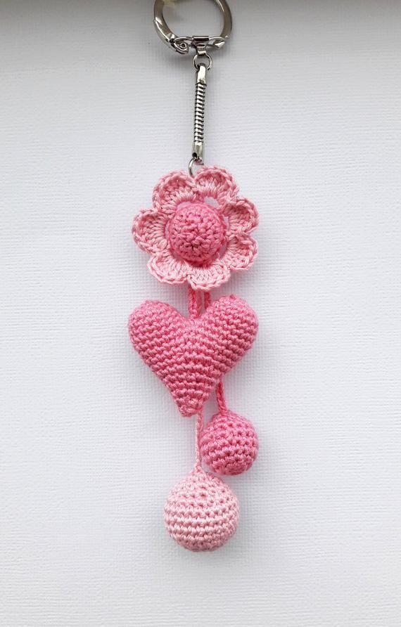 amigurumi keychain crochet heart Crochet keychain Crochet | Etsy