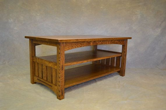 Mission Quartersawnn Oak Tv Console Entertainment By Chadwoodruff Stand Furniture Custom
