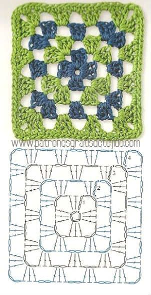 Colección de los mejores grannys crochet / Descarga Gratis | Crochet ...
