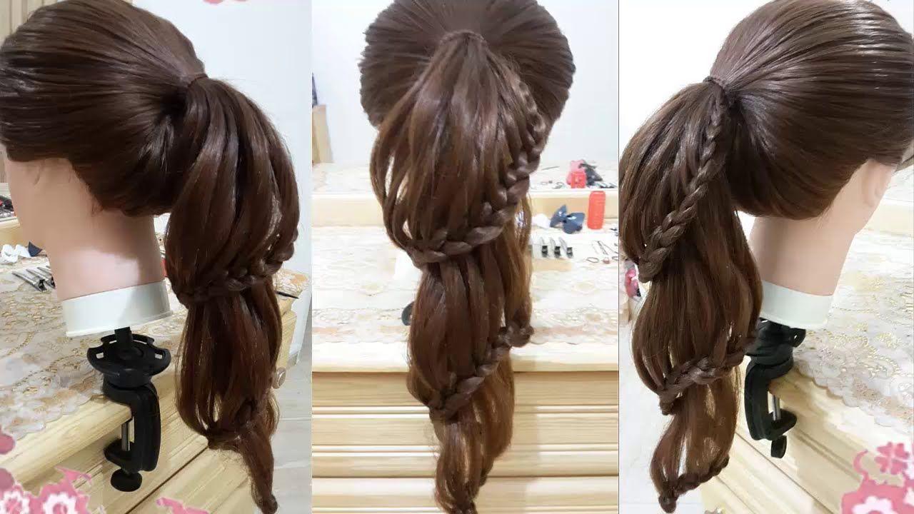 Peinados faciles de caballo con trenzas para cabello largo - Trenzas peinados faciles ...