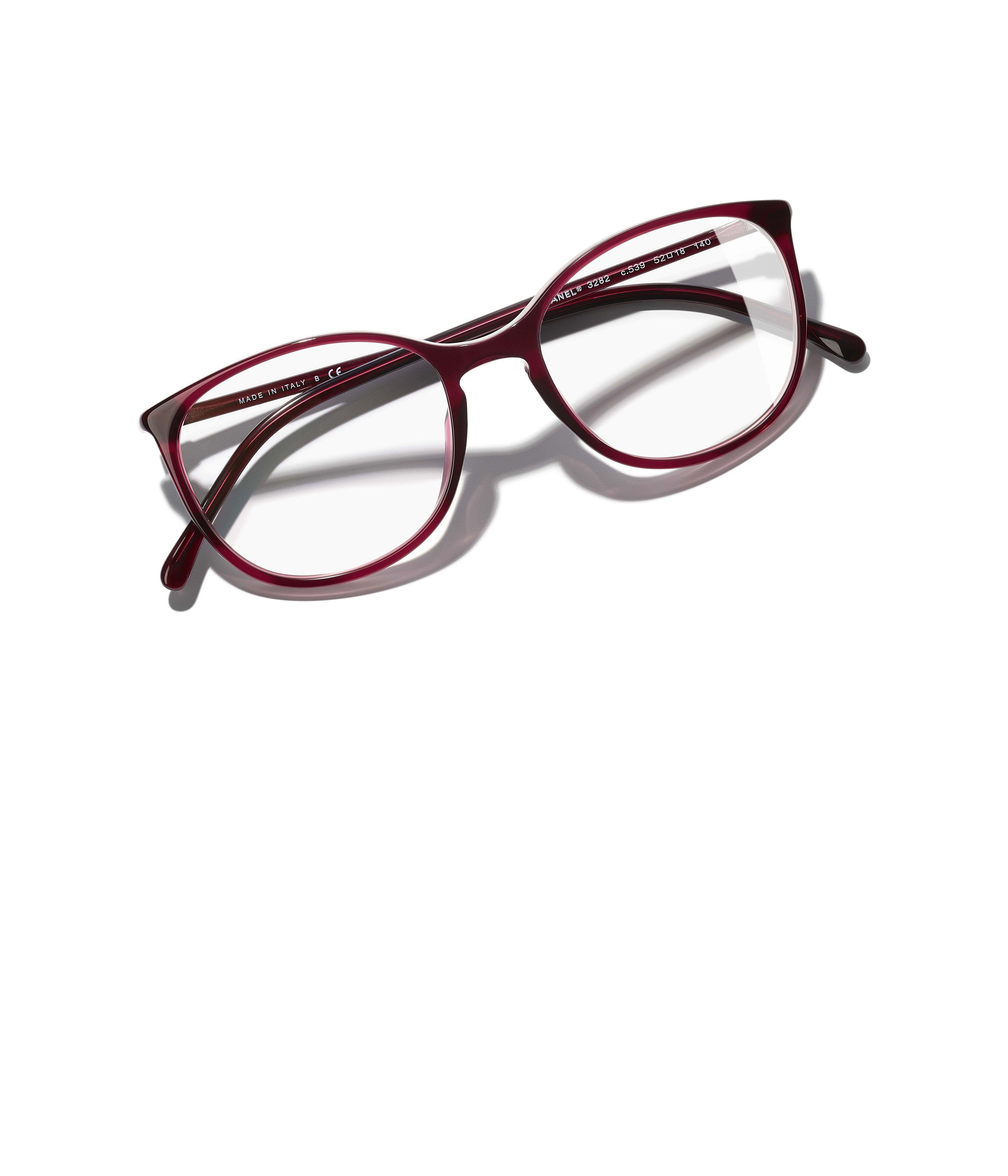 2040a3f5fb6d1 Óculos CHANEL   Óculos De Grau, acetato, vermelho no site oficial CHANEL