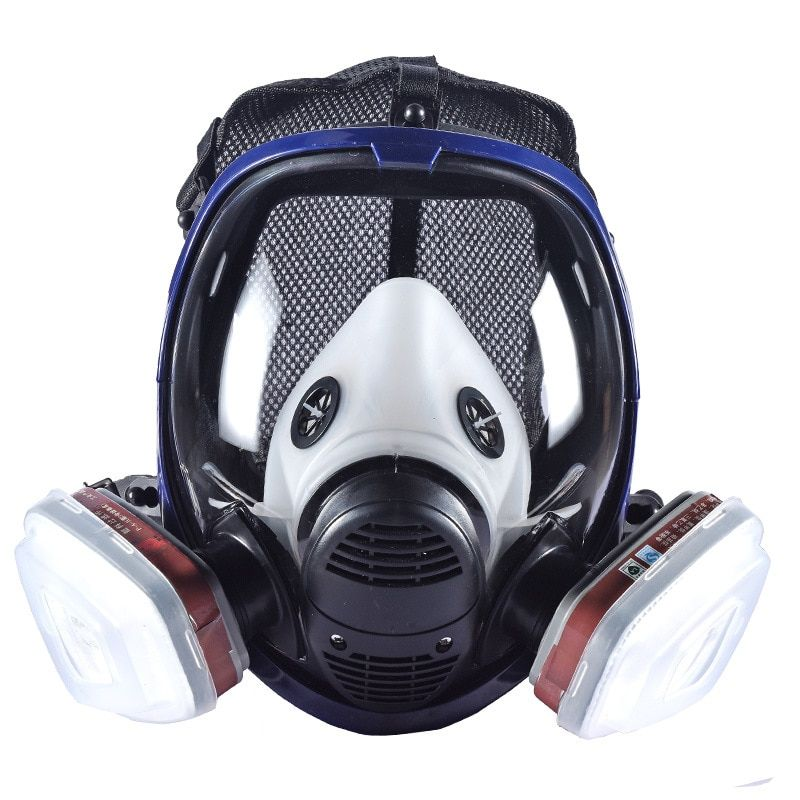 New Industrial 7 In 1 6800 Full Gas Mask Respirator With Filtering