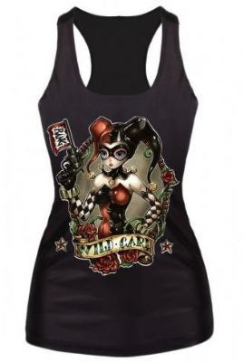 Camiseta chica tirantes Harley Quinn al estilo Punk. Batman Foto 1