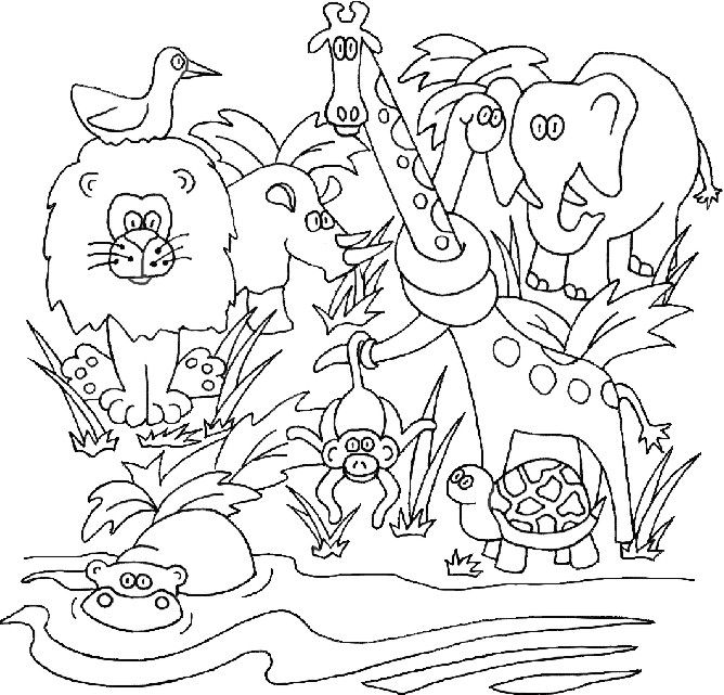 free coloring pages of safari animals | Free colouring pages. #homeschool #preschool | Preschool ...