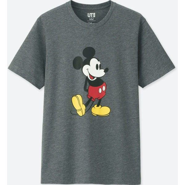 Uniqlo Men S Mickey Stands Short Sleeve Graphic T Shirt 15 Liked On Polyvore Featuring Men S Fashion Men S Cloth Mickey Mouse T Shirt Shirts Graphic Tees