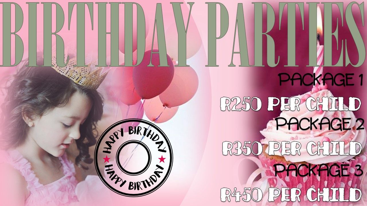 Birthday Party Venue Package Flyer