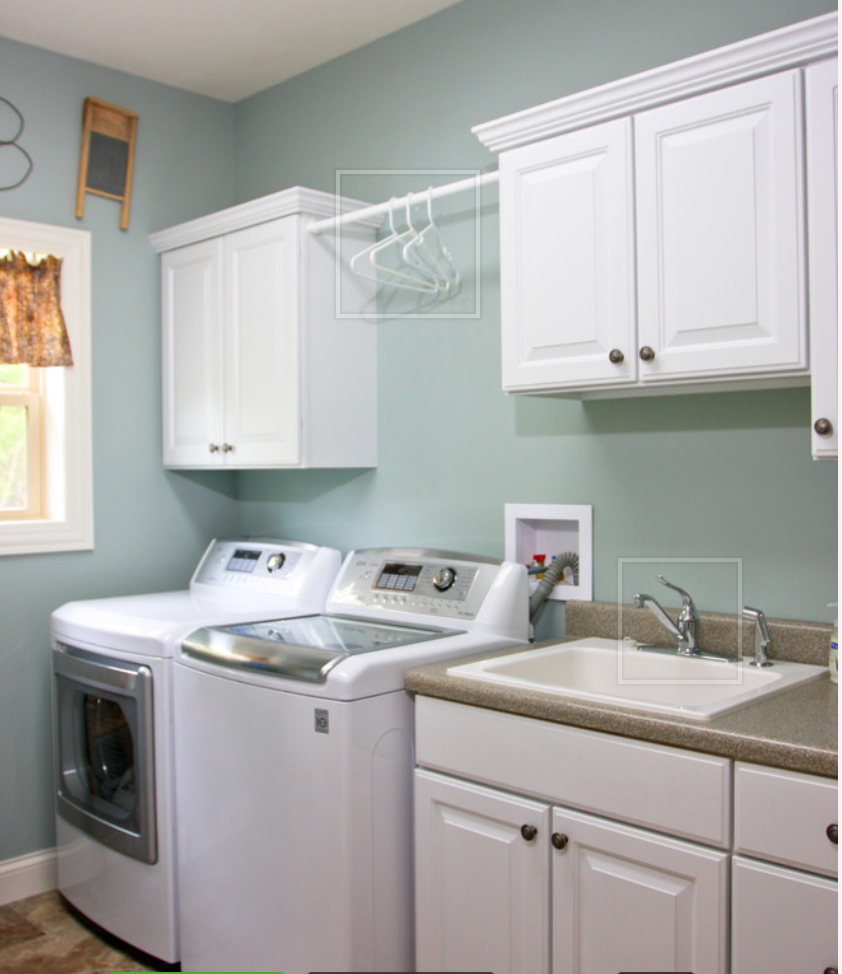 Laundry Room Countertop Material Think Lack Of Backsplash And Countertop Material Makes This Look