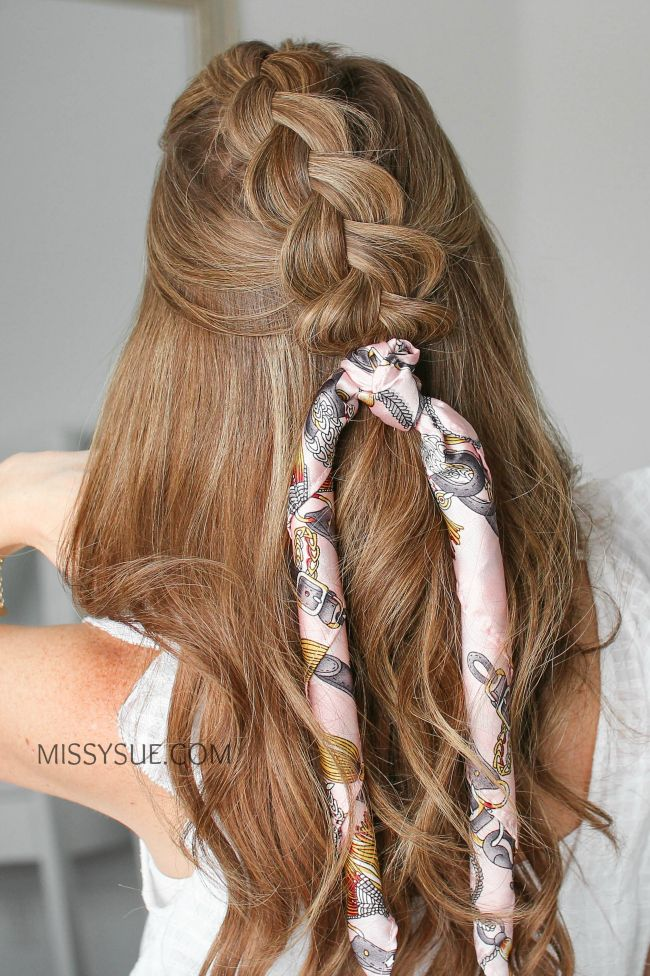 12 Hair Scarf Hairstyles, Back to School | Scarf ...