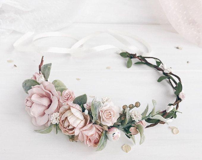 Flower crown, Wedding flower crown, Flower hair piece, Bridal hair, Bridesmaids
